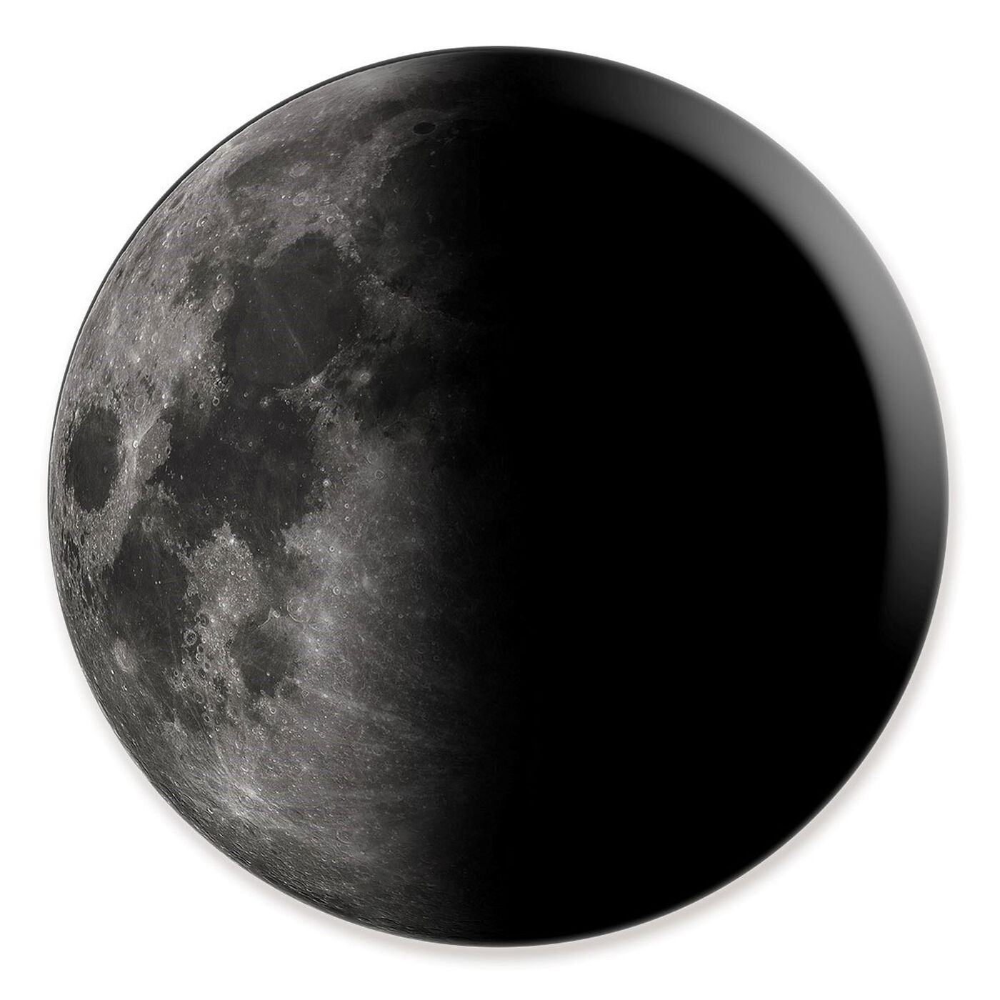 Front view of Moon II featuring astronomy and space and moons art.