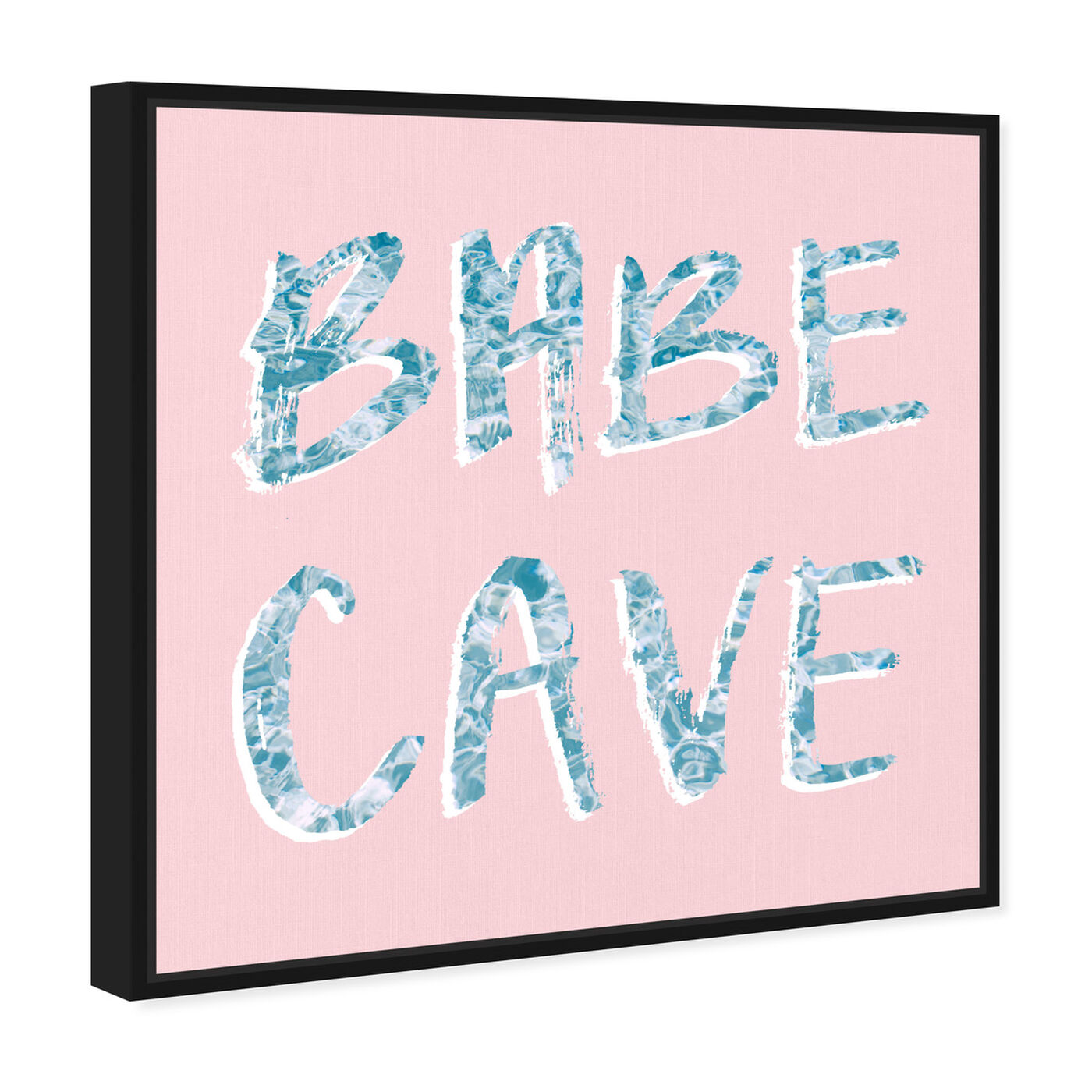 Angled view of Babe Cave Pool Party featuring typography and quotes and empowered women quotes and sayings art.