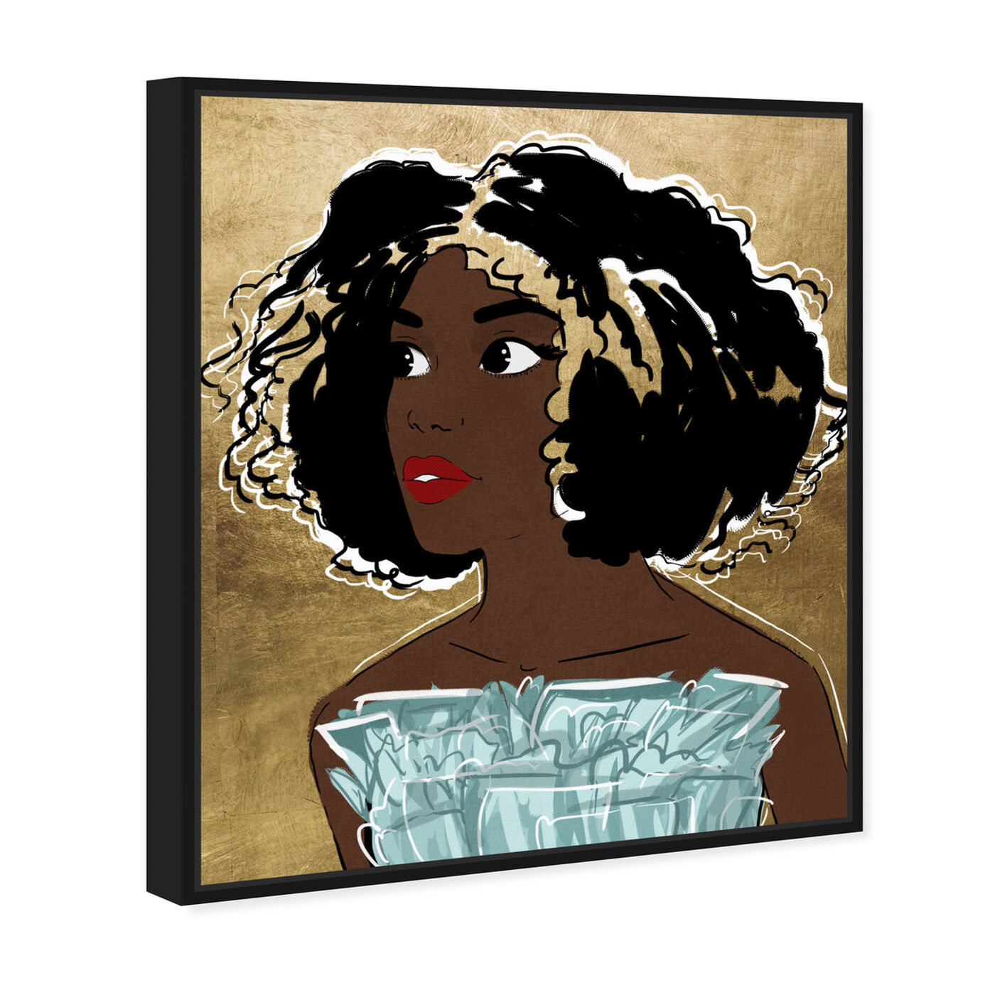 Angled view of Golden Babe featuring people and portraits and portraits art.