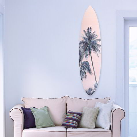 Palm Surfboard pink