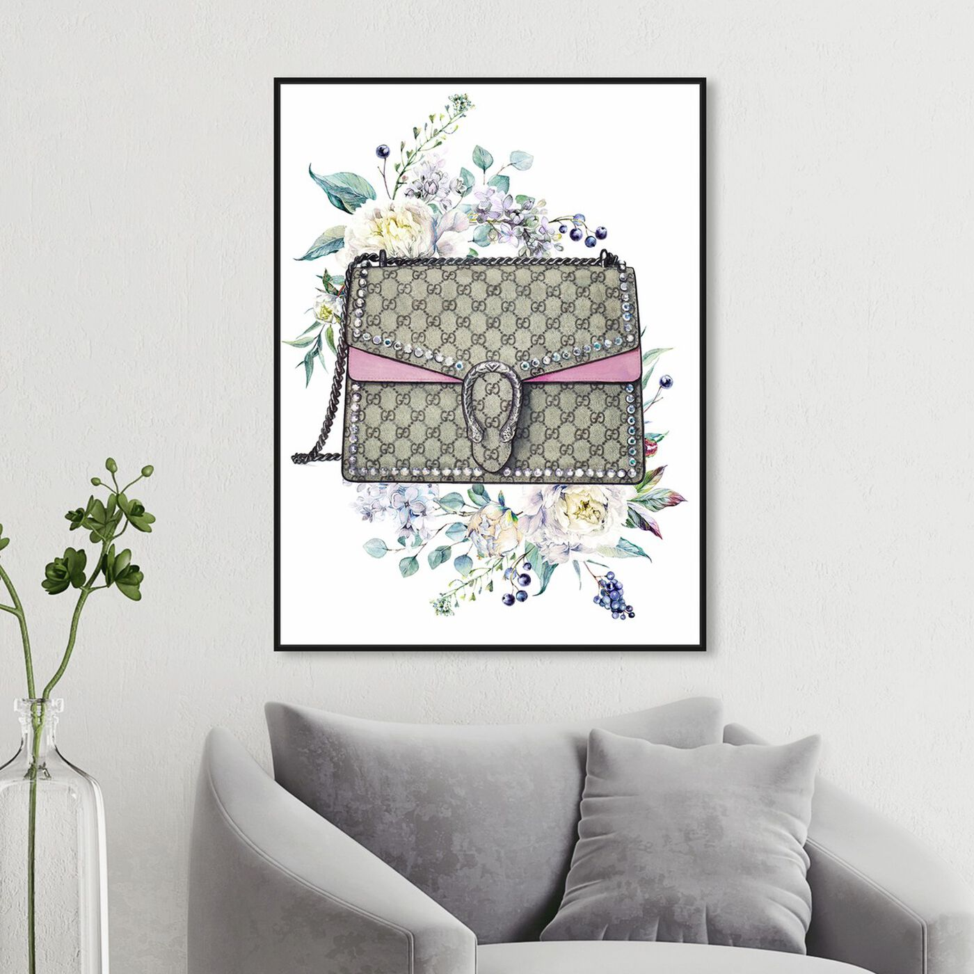 Hanging view of Doll Memories - Classic featuring fashion and glam and handbags art.