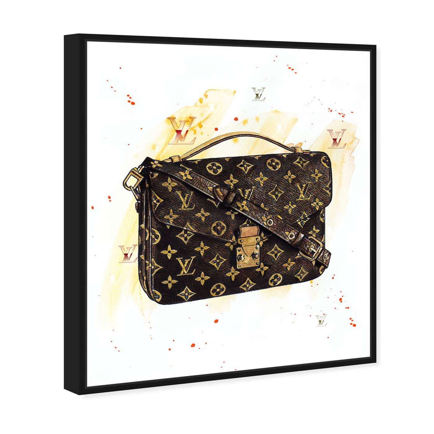 Angled view of Doll Memories - Lavish Hand Bag Splashes featuring fashion and glam and handbags art.
