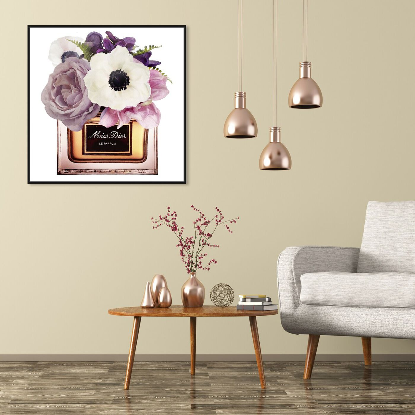 Hanging view of Night Anemone Perfume featuring fashion and glam and perfumes art.