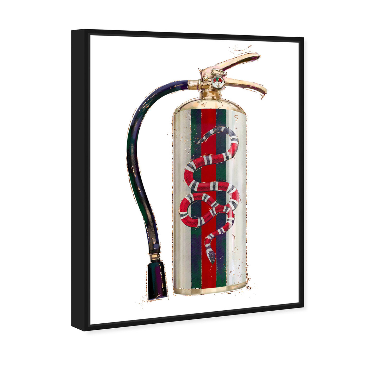 Angled view of Italian Extinguisher featuring animals and zoo and wild animals art.