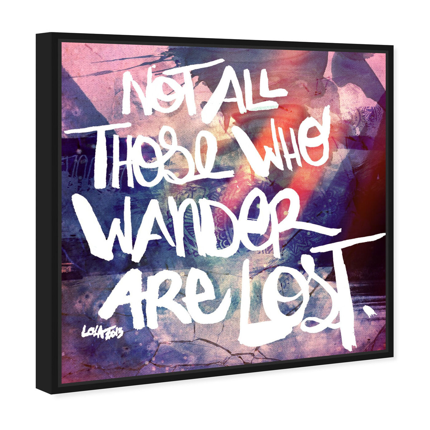 Angled view of Lost featuring typography and quotes and inspirational quotes and sayings art.