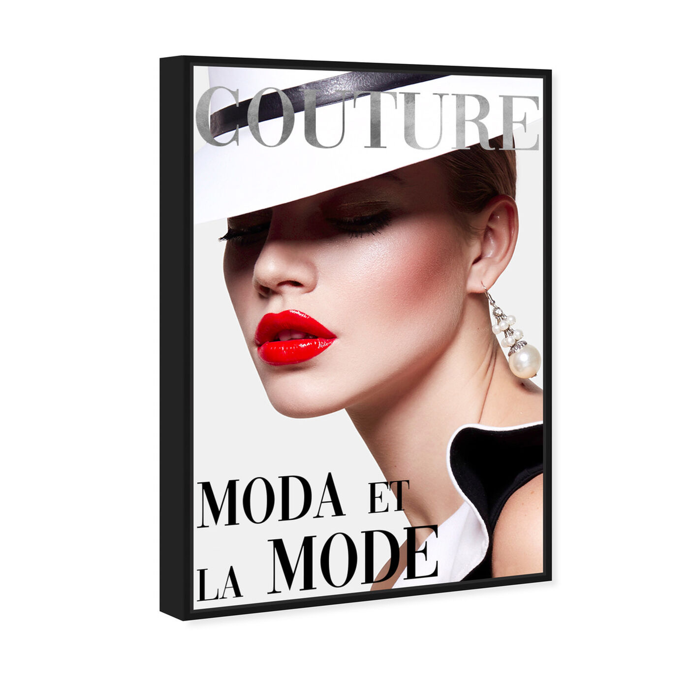 Angled view of Cover Fashion Couture III featuring fashion and glam and makeup art.