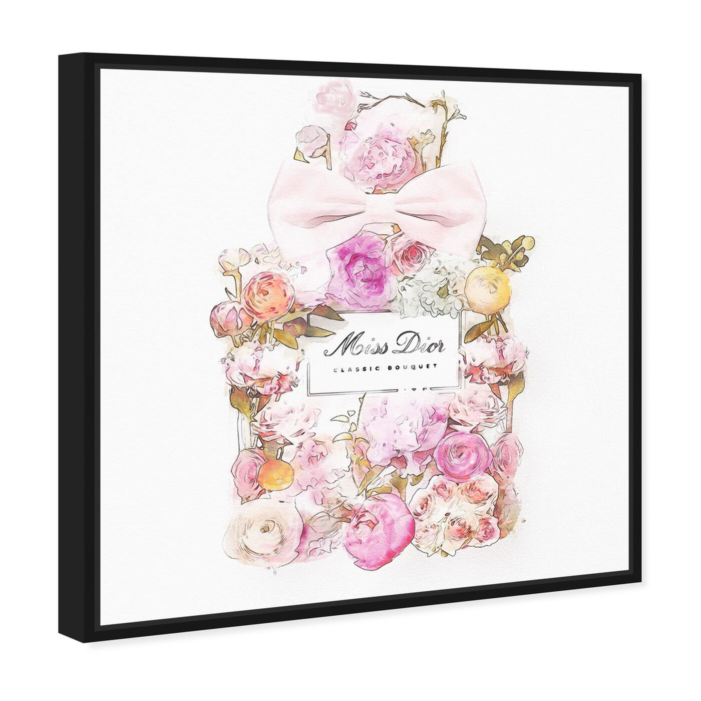 Angled view of Beautiful Bouquet I featuring fashion and glam and perfumes art.