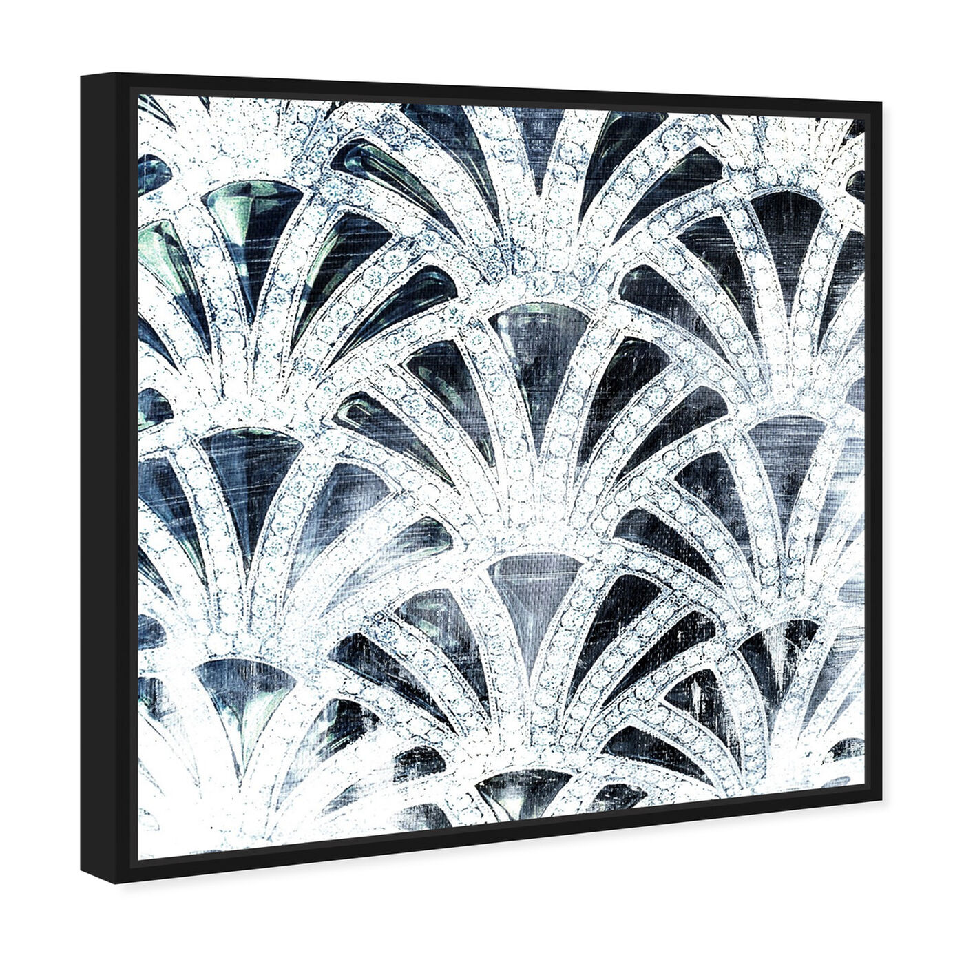 Angled view of Diamonds Deco featuring abstract and patterns art.