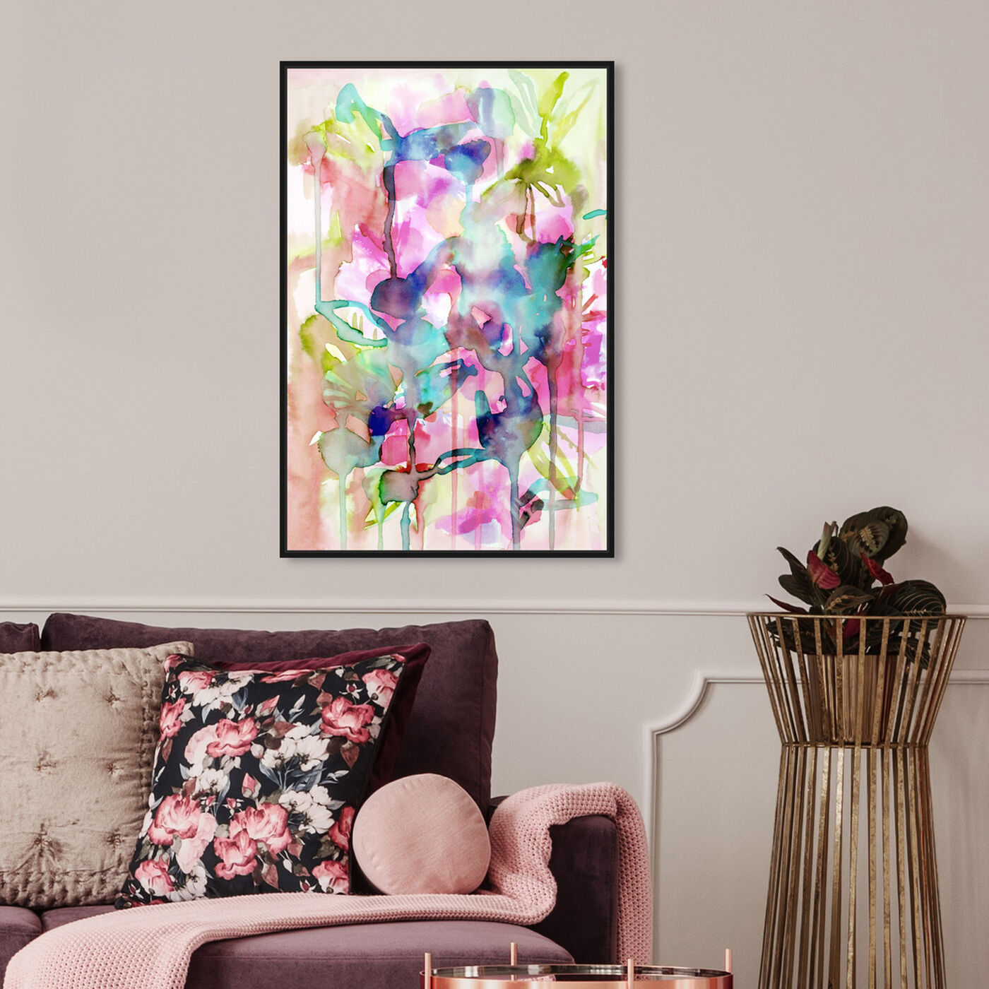 Hanging view of Floral Spring featuring abstract and flowers art.