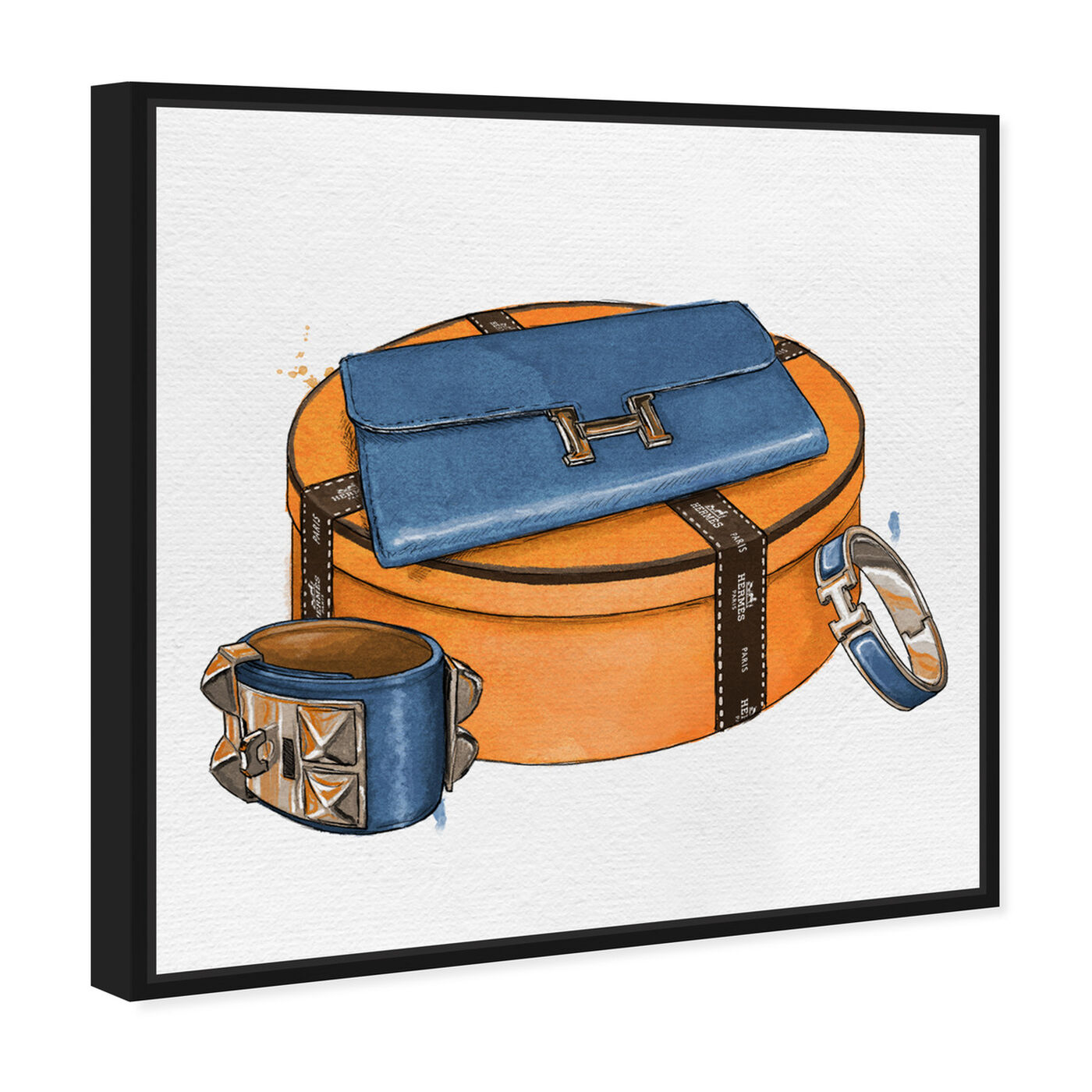 Angled view of My Bag Collection V featuring fashion and glam and handbags art.
