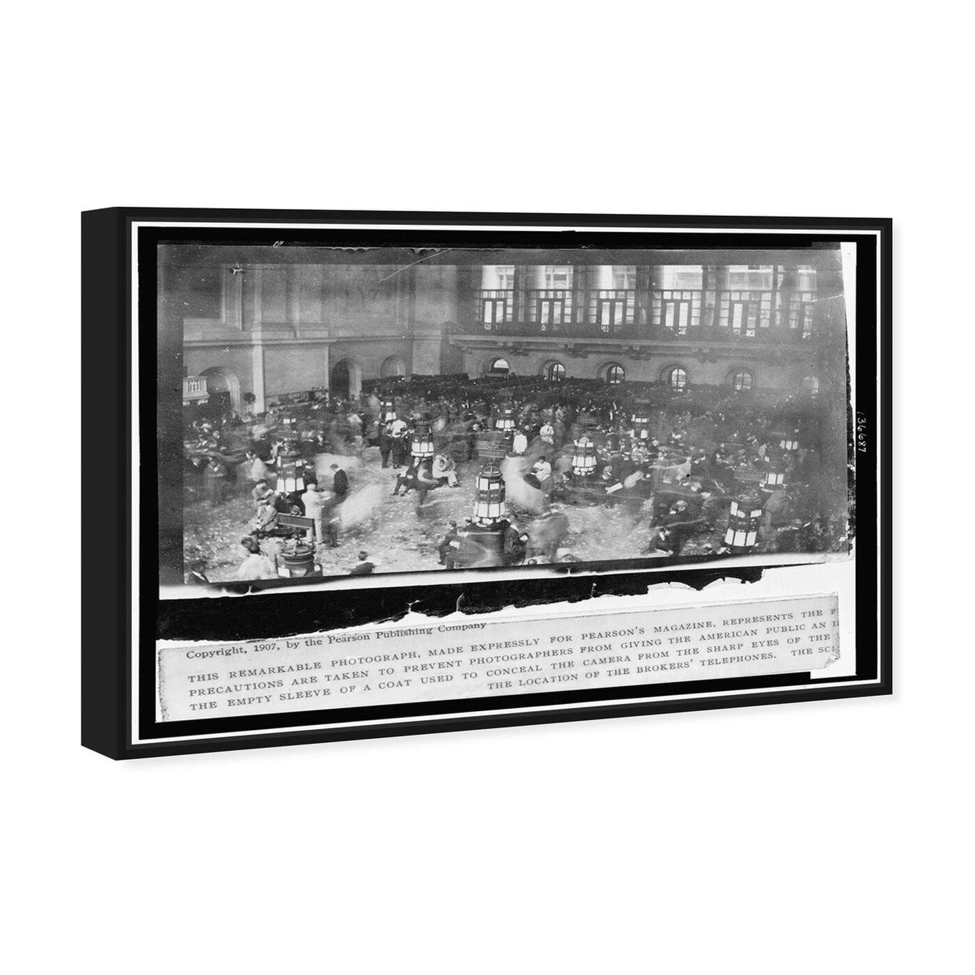 Angled view of Stock Market Secret 1907 featuring people and portraits and united states buildings art.