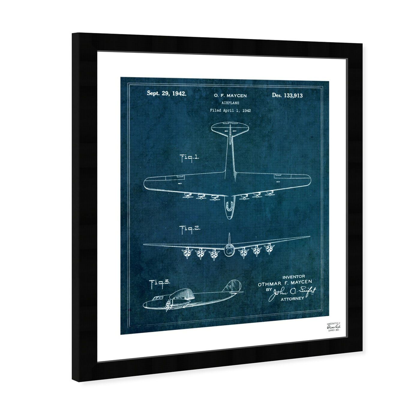 Angled view of Airplane 1942 featuring transportation and air transportation art.
