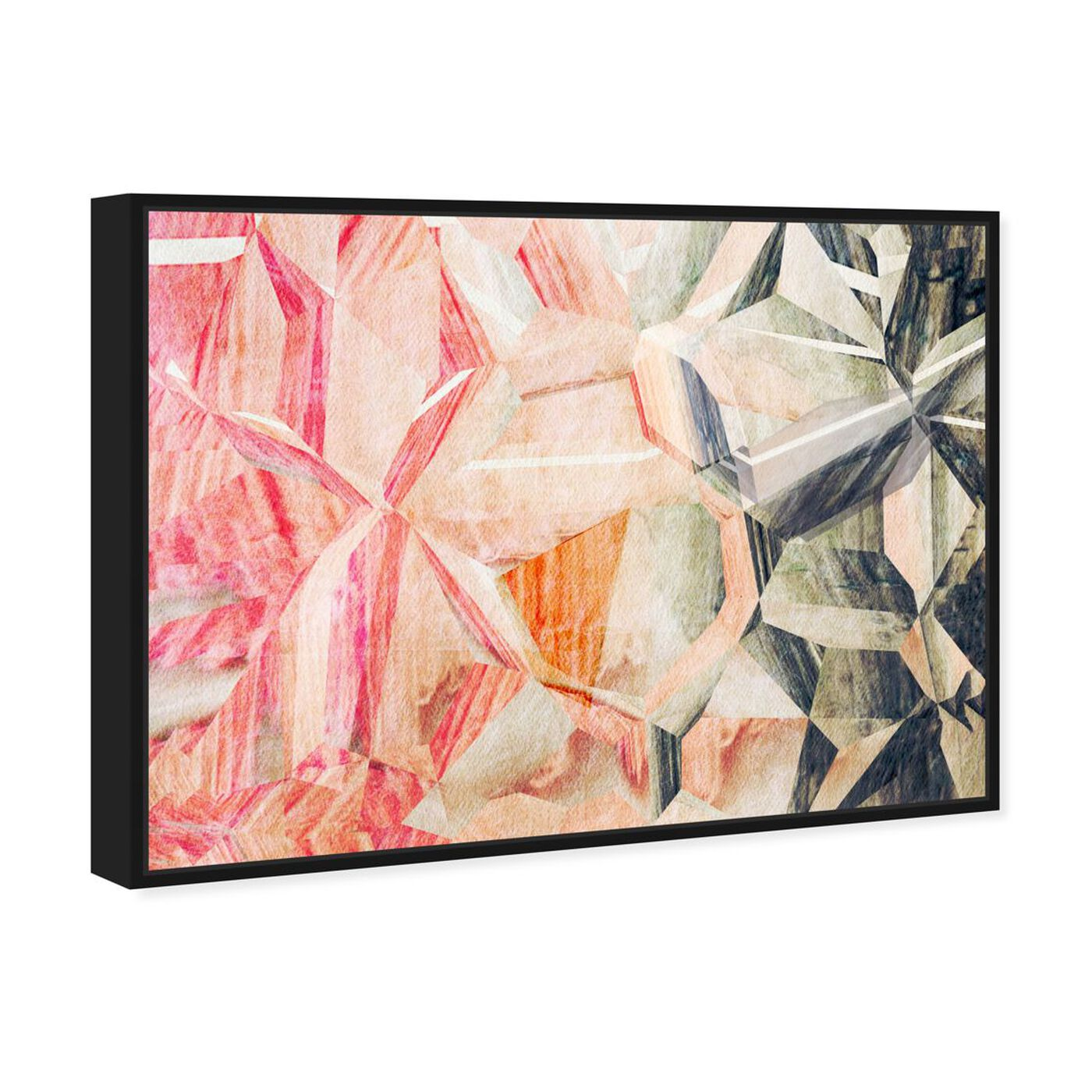 Angled view of Beautiful Modern featuring abstract and shapes art.