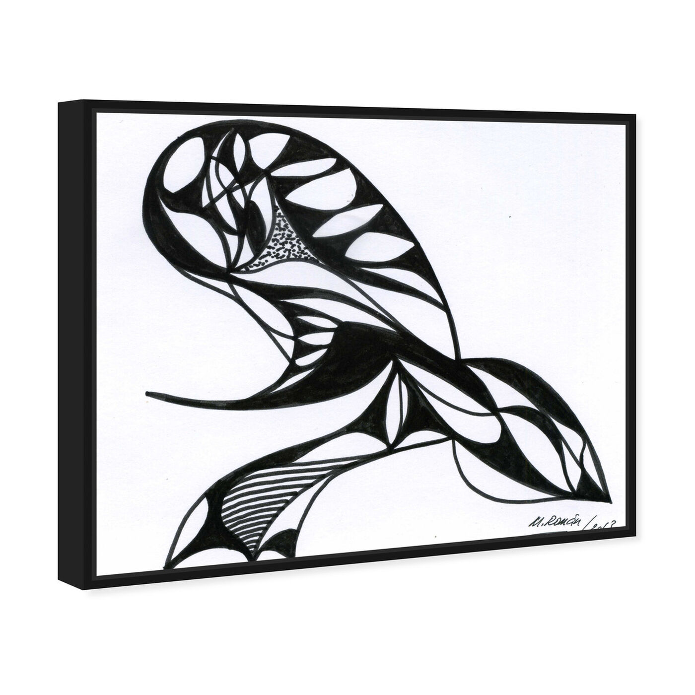 Angled view of The Sting featuring abstract and shapes art.