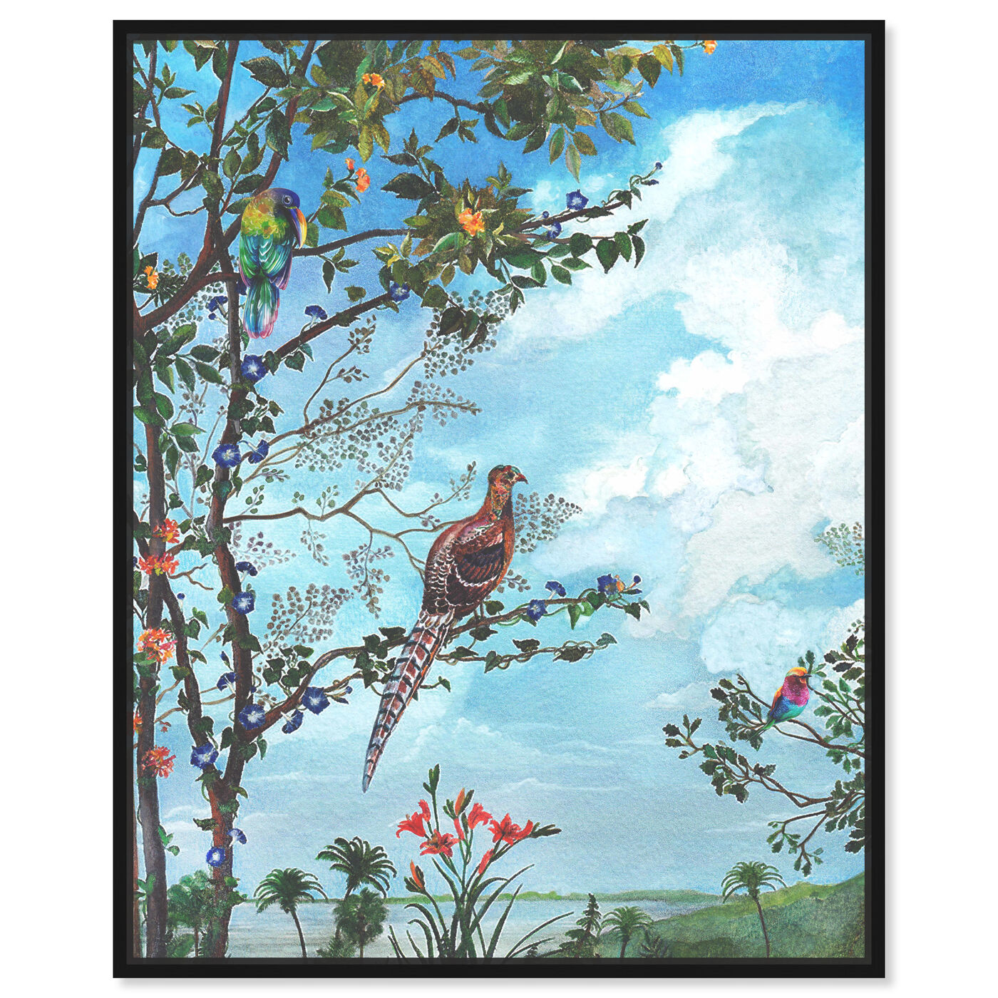 Front view of Peaceful Moment Birds featuring animals and birds art.