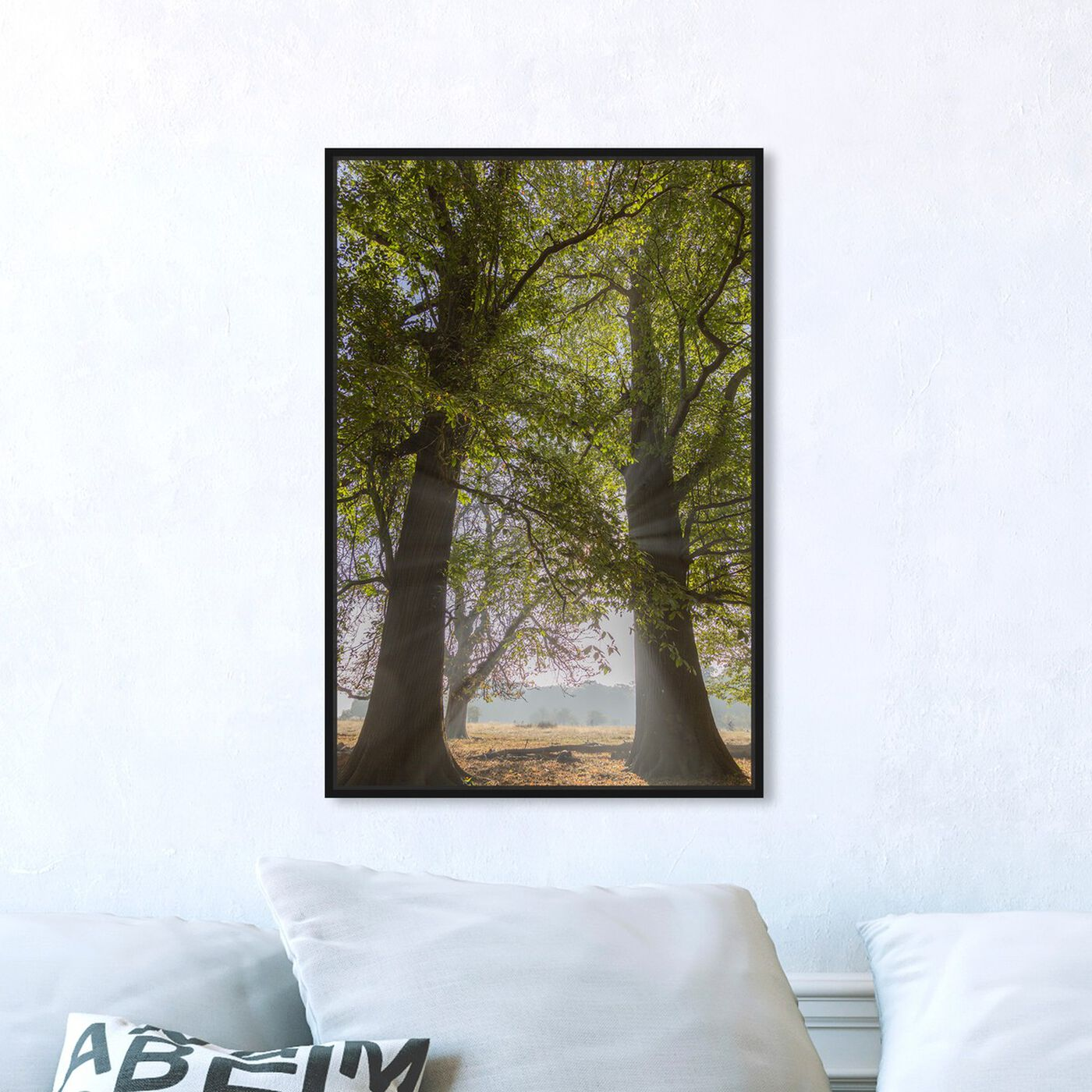 Hanging view of Curro Cardenal - Together in the Forest featuring floral and botanical and trees art.
