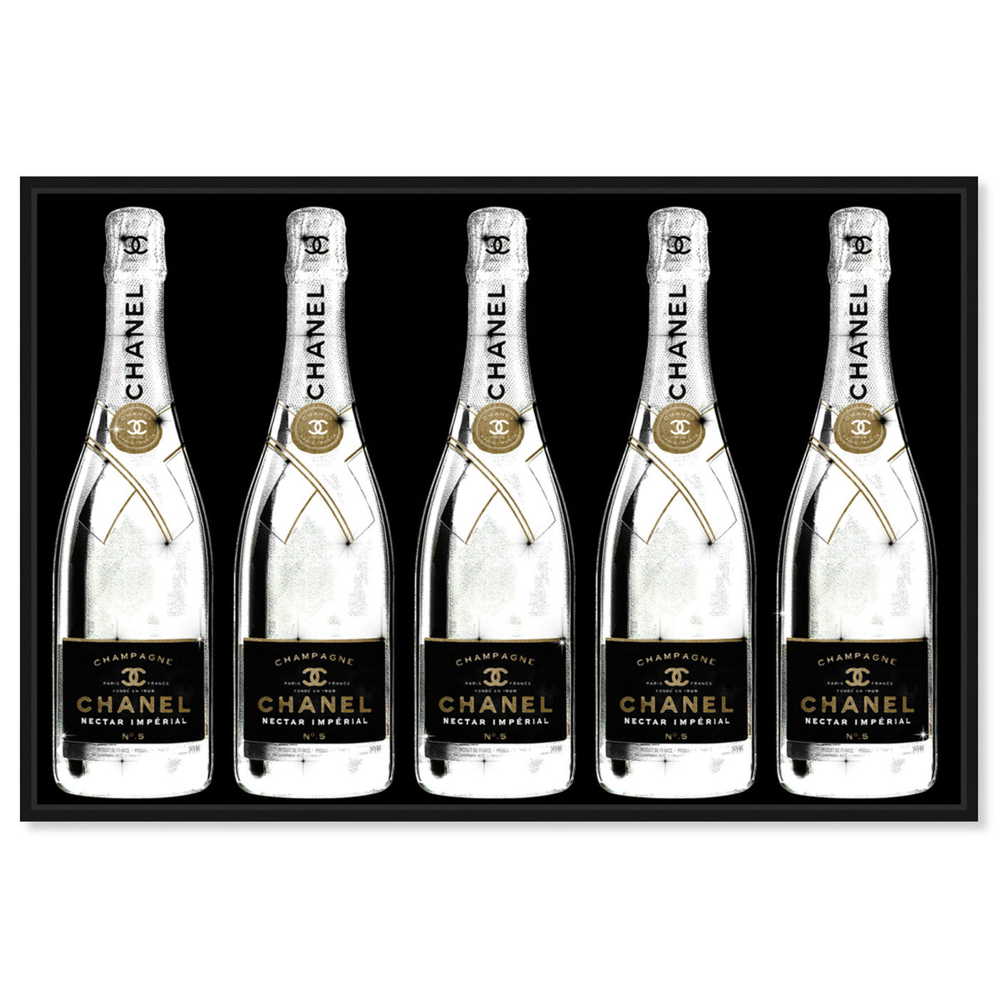 Front view of Drink Up Champagne Black featuring fashion and glam and lifestyle art.