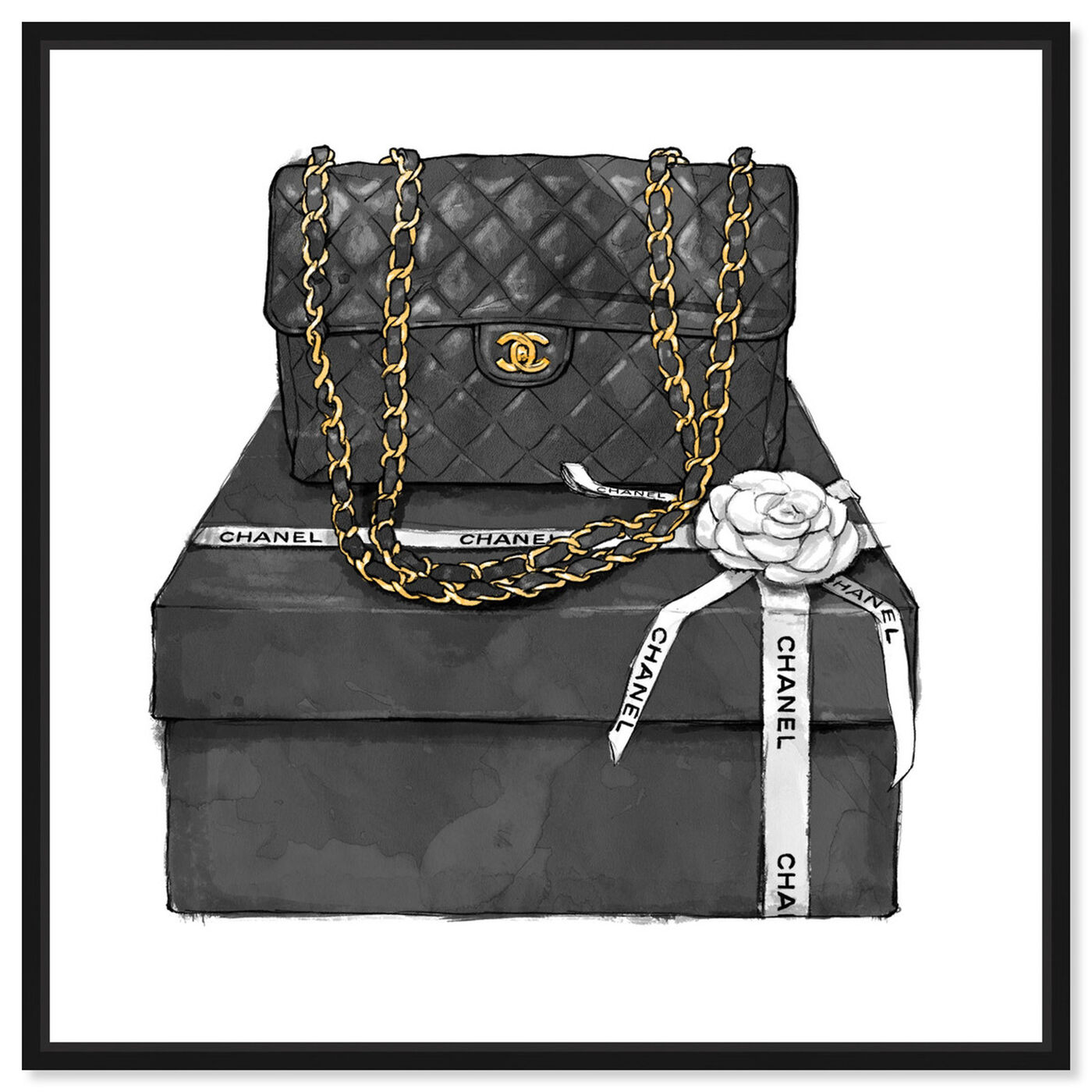 Front view of Boxed Beauty featuring fashion and glam and handbags art.