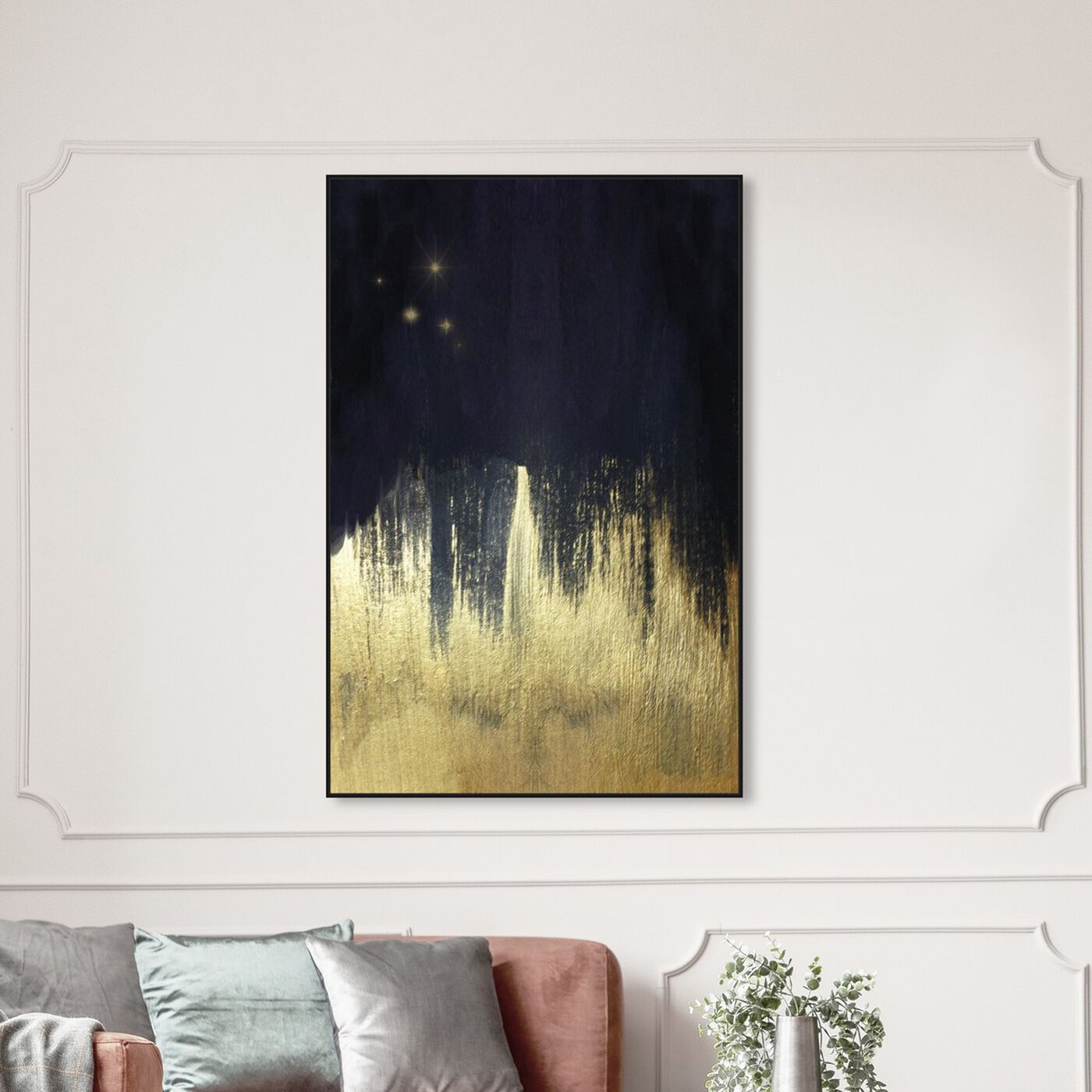 Hanging view of Starry Night featuring abstract and paint art.