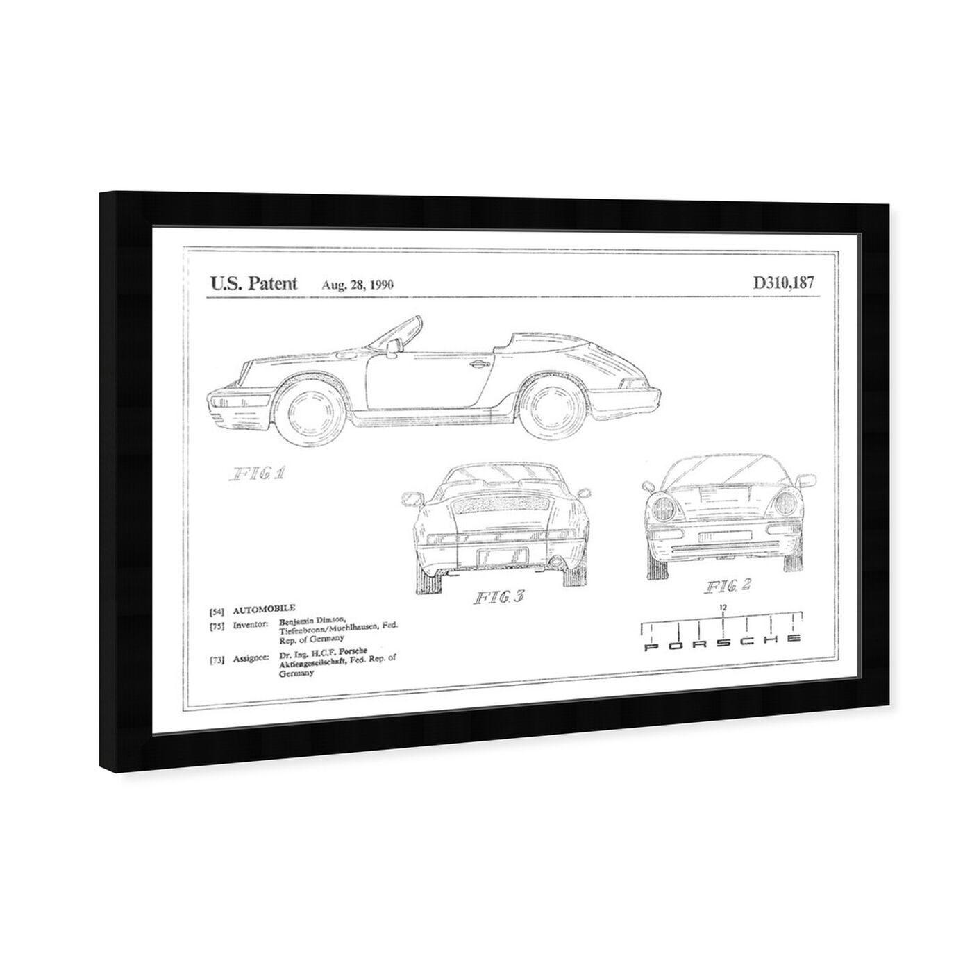 Angled view of Porsche 911 1990, Silver Foil featuring transportation and automobiles art.
