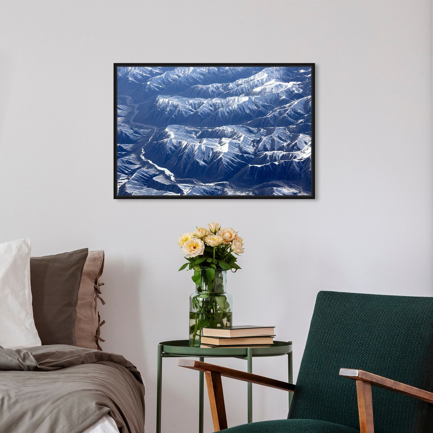 Hanging view of Curro Cardenal - Aero View IV featuring nature and landscape and mountains art.