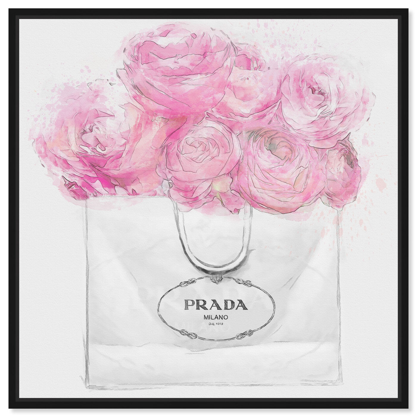 Front view of Shopping for Peonies Light featuring fashion and glam and fashion art.