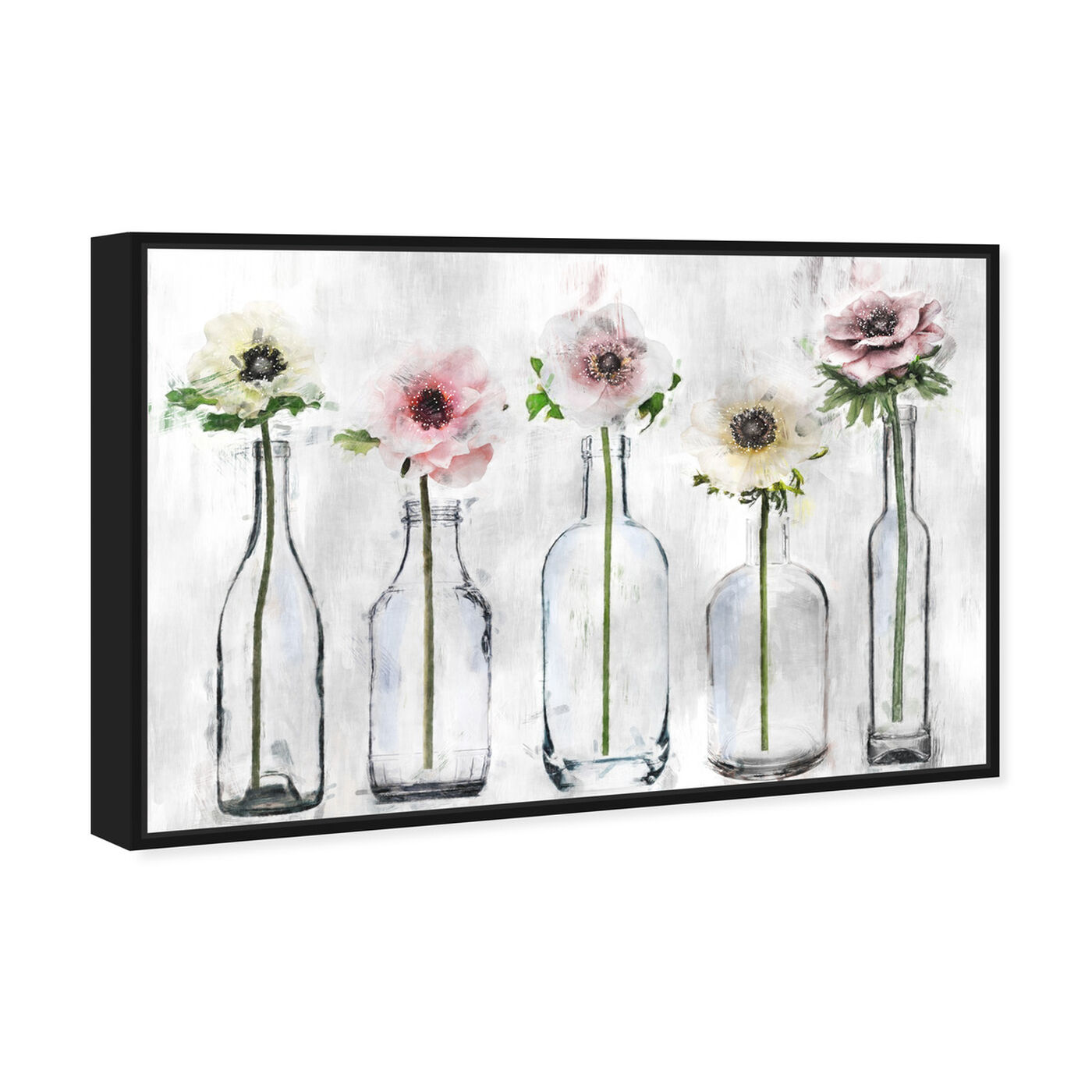 Angled view of Anemone Floral featuring floral and botanical and florals art.