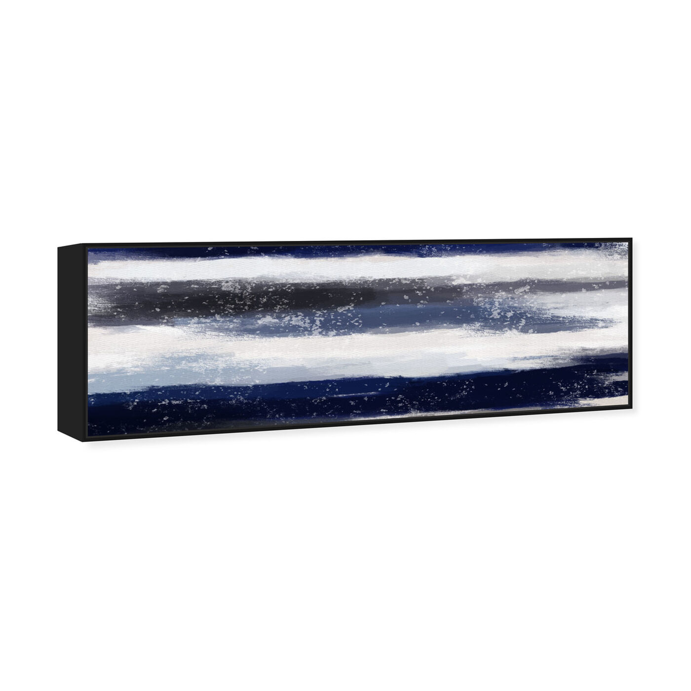 Angled view of Sapphire Shades Long Horizon featuring abstract and shapes art.