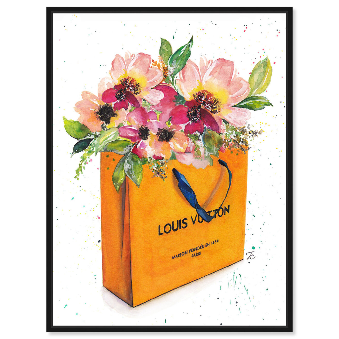 Front view of Doll Memories - Orange Shopper featuring fashion and glam and lifestyle art.