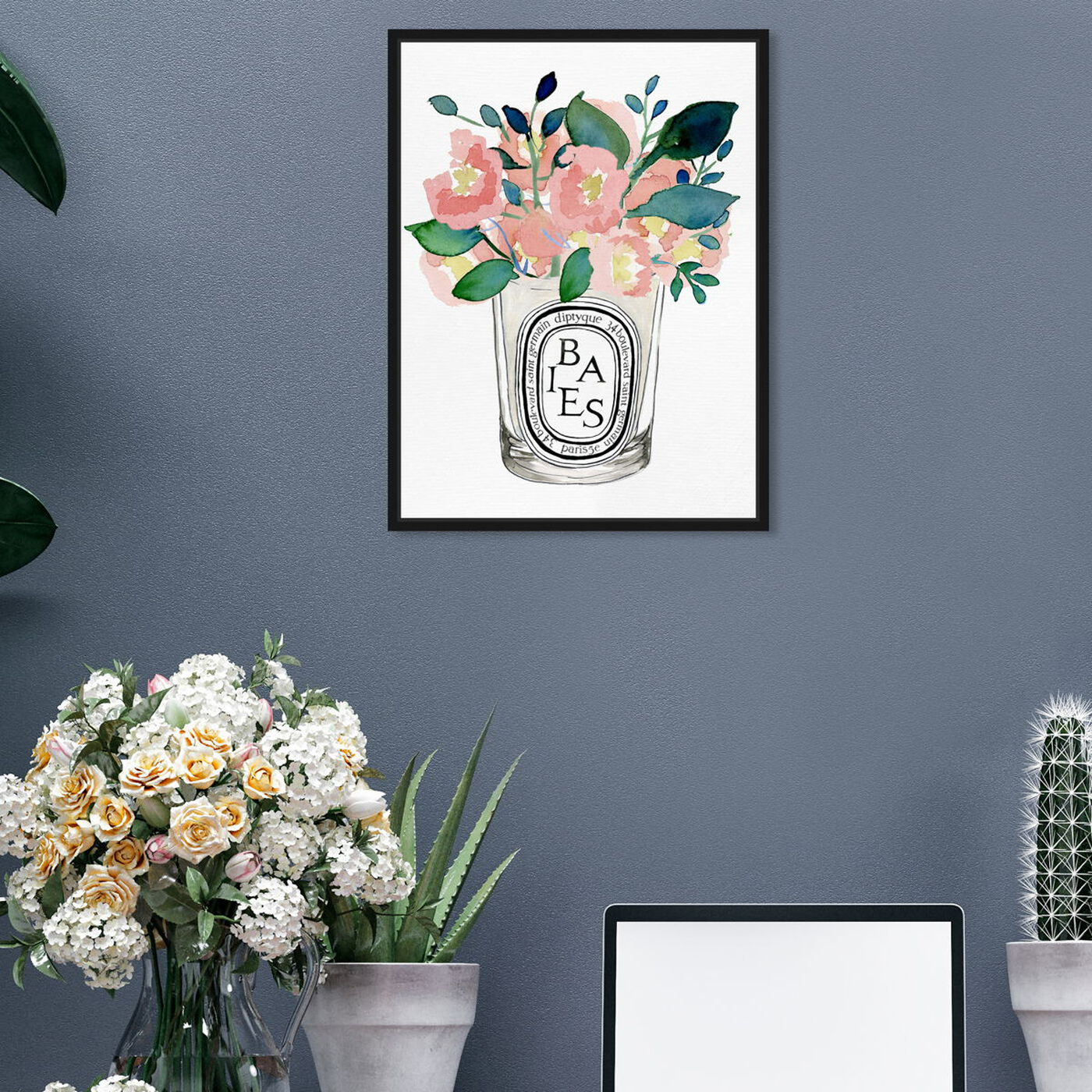 Hanging view of Scent Du Jour featuring floral and botanical and florals art.