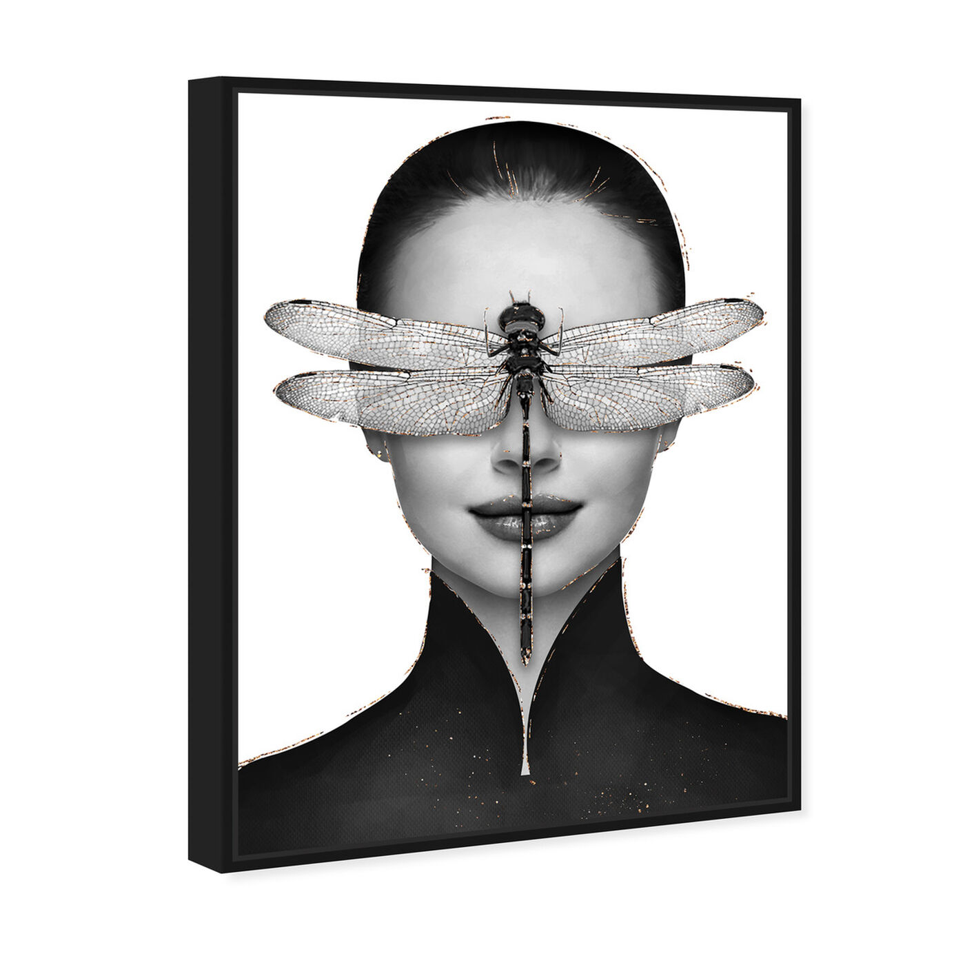 Angled view of Dragonfly Duchess featuring fashion and glam and portraits art.
