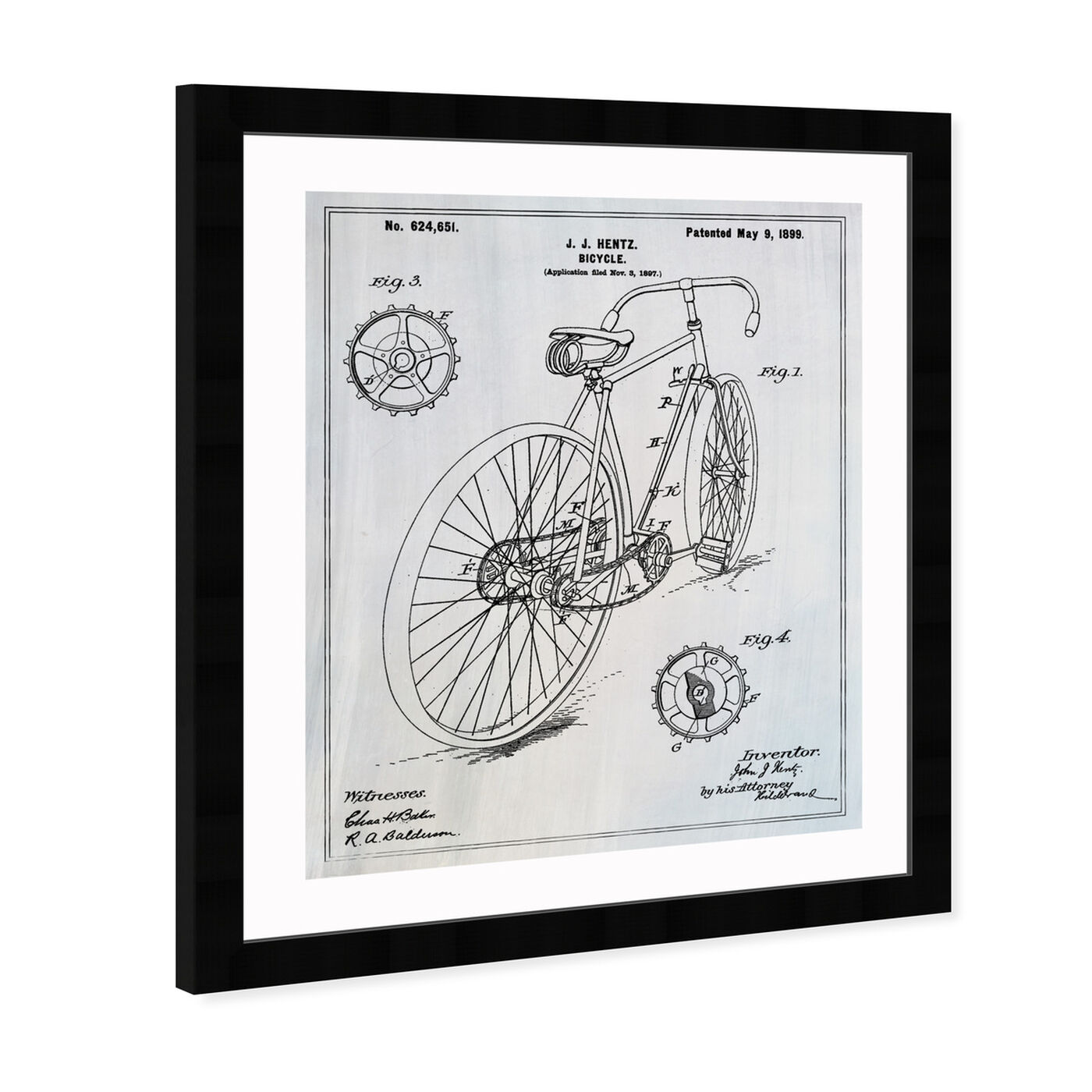 Angled view of Bicycle 1899 featuring transportation and bicycles art.