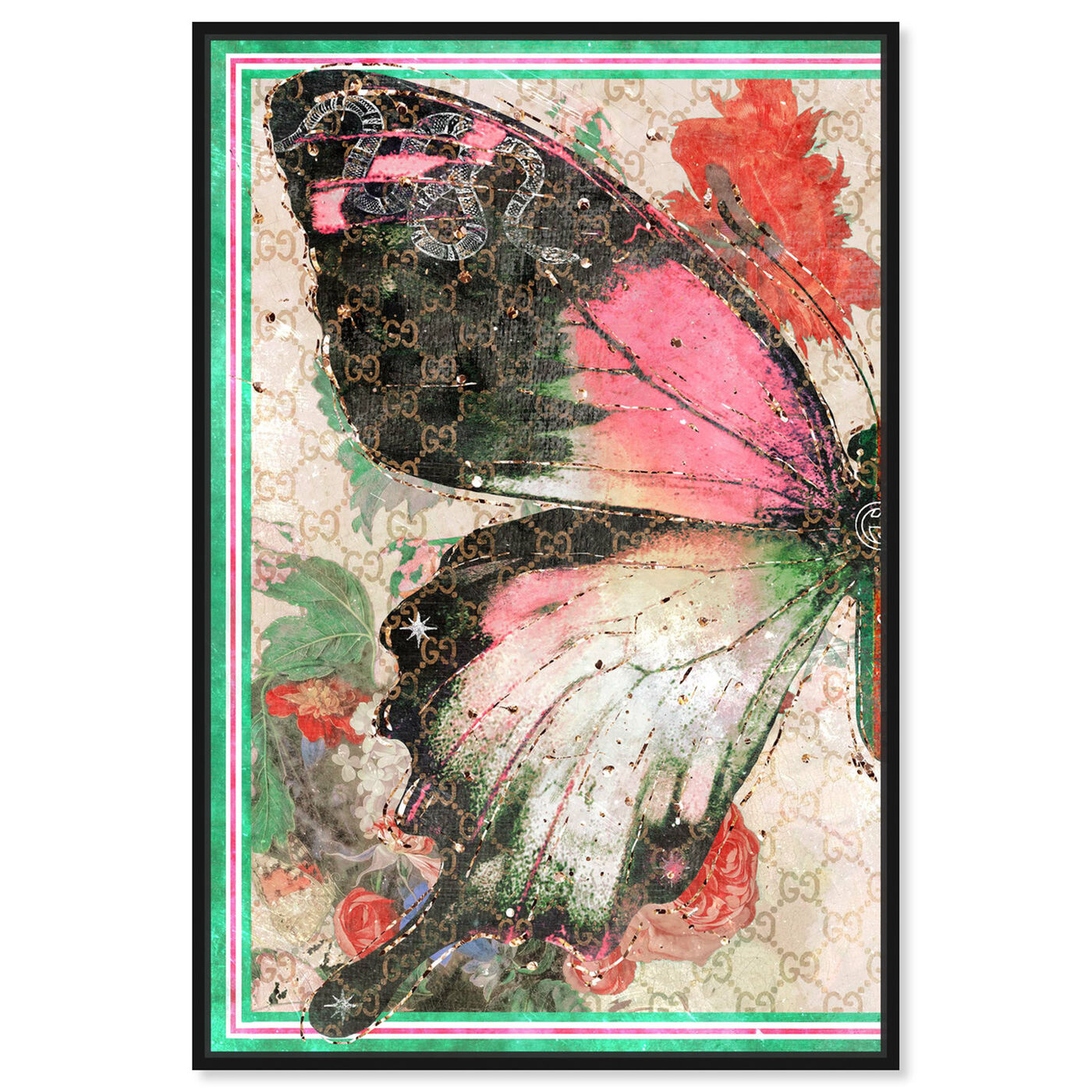 Front view of Butterfly Effect Symbol I featuring animals and insects art.