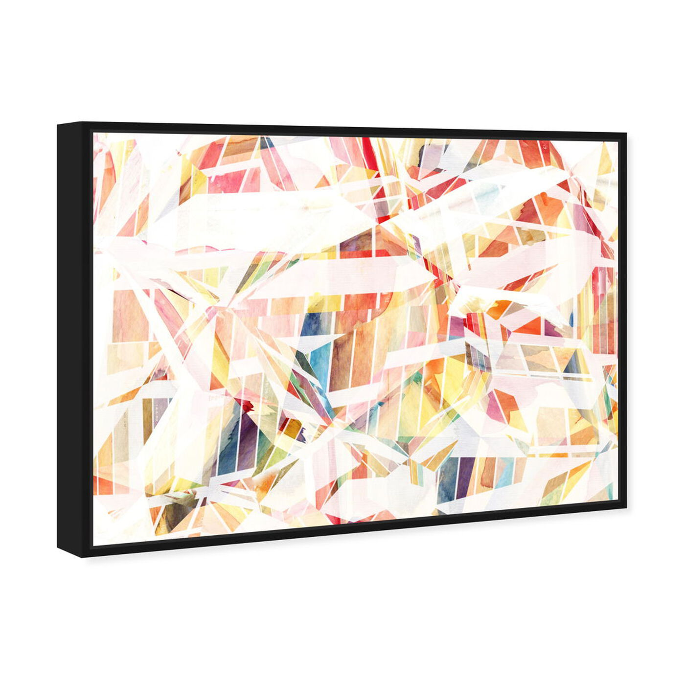 Angled view of Just Like That featuring abstract and watercolor art.