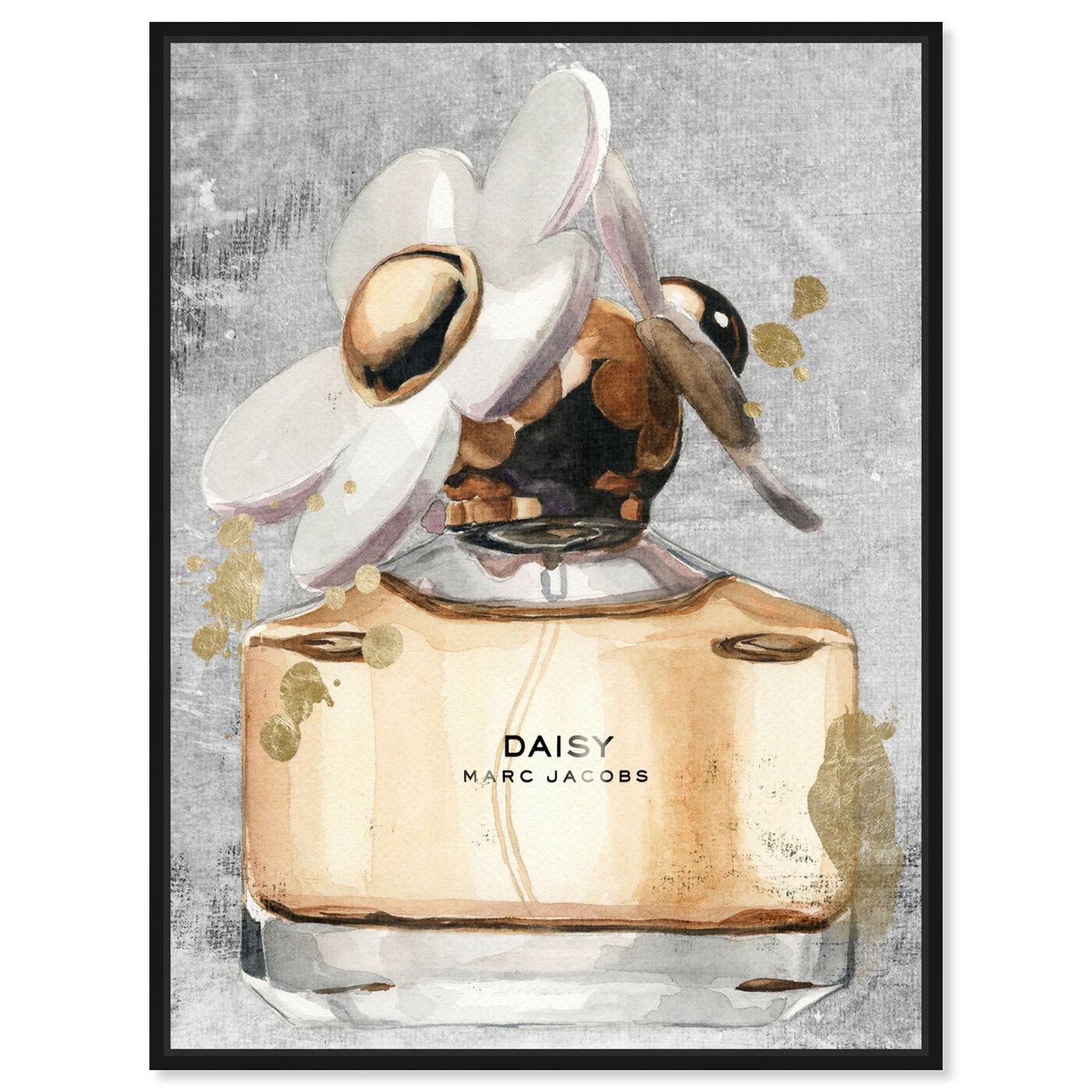 Front view of Daisy Perfume featuring fashion and glam and perfumes art.