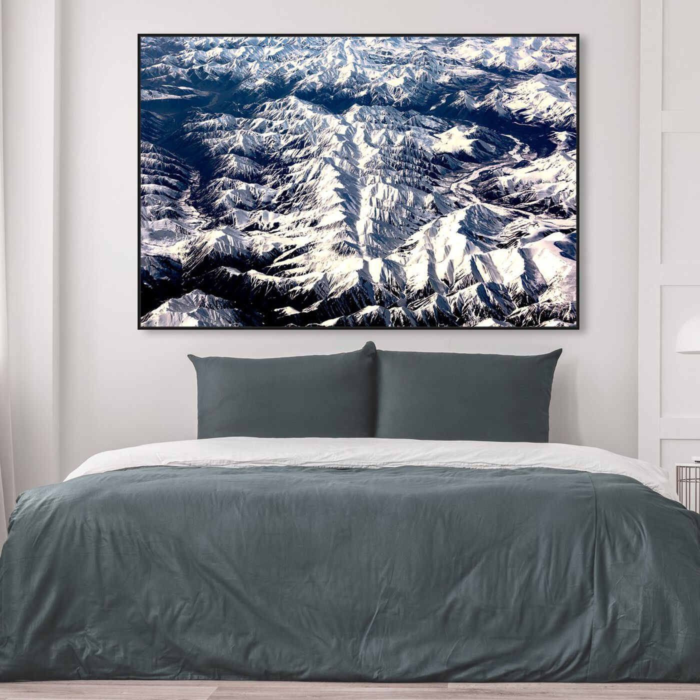 Hanging view of Curro Cardenal - Aero View III featuring nature and landscape and mountains art.