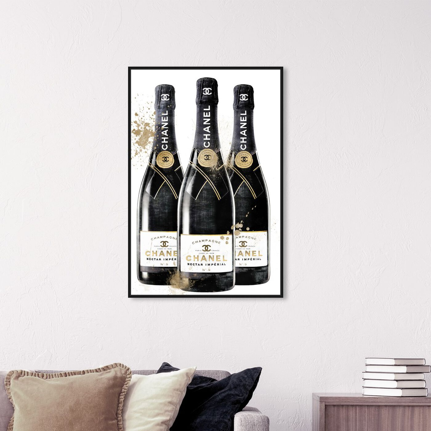 Hanging view of Fashion and Bubbles Champagne featuring fashion and glam and lifestyle art.