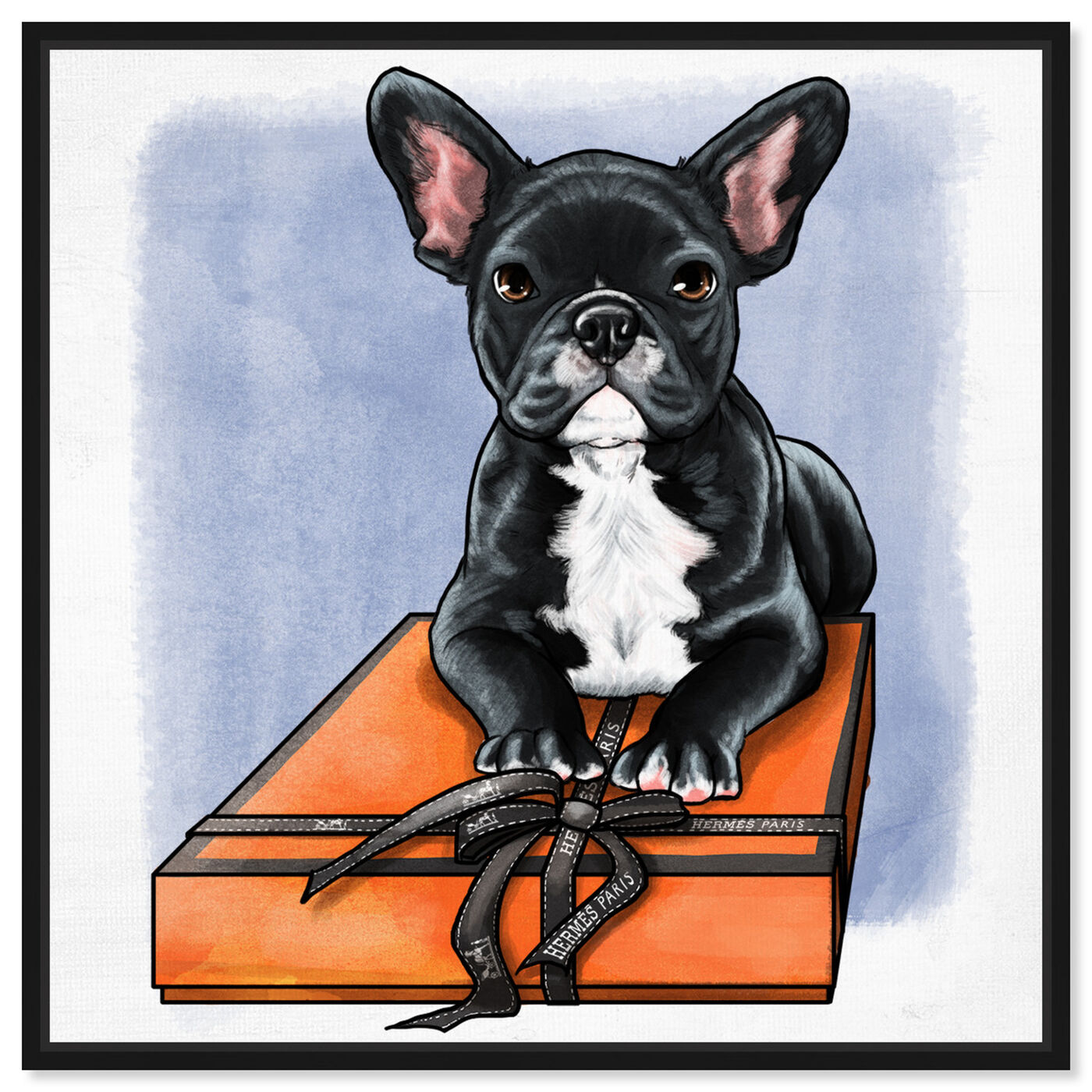 Front view of Treasure Box Frenchie II featuring fashion and glam and fashion art.