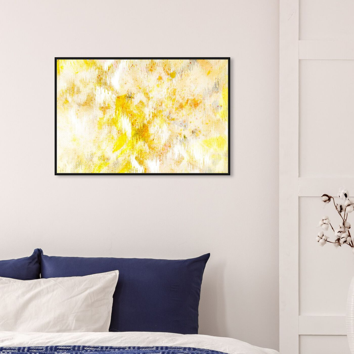 Hanging view of Bird Song featuring abstract and paint art.