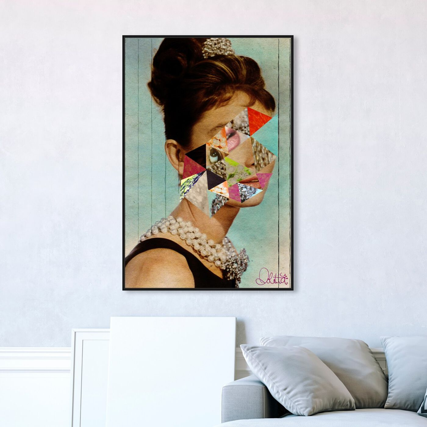 Hanging view of It's All About The Diamonds  featuring fashion and glam and portraits art.