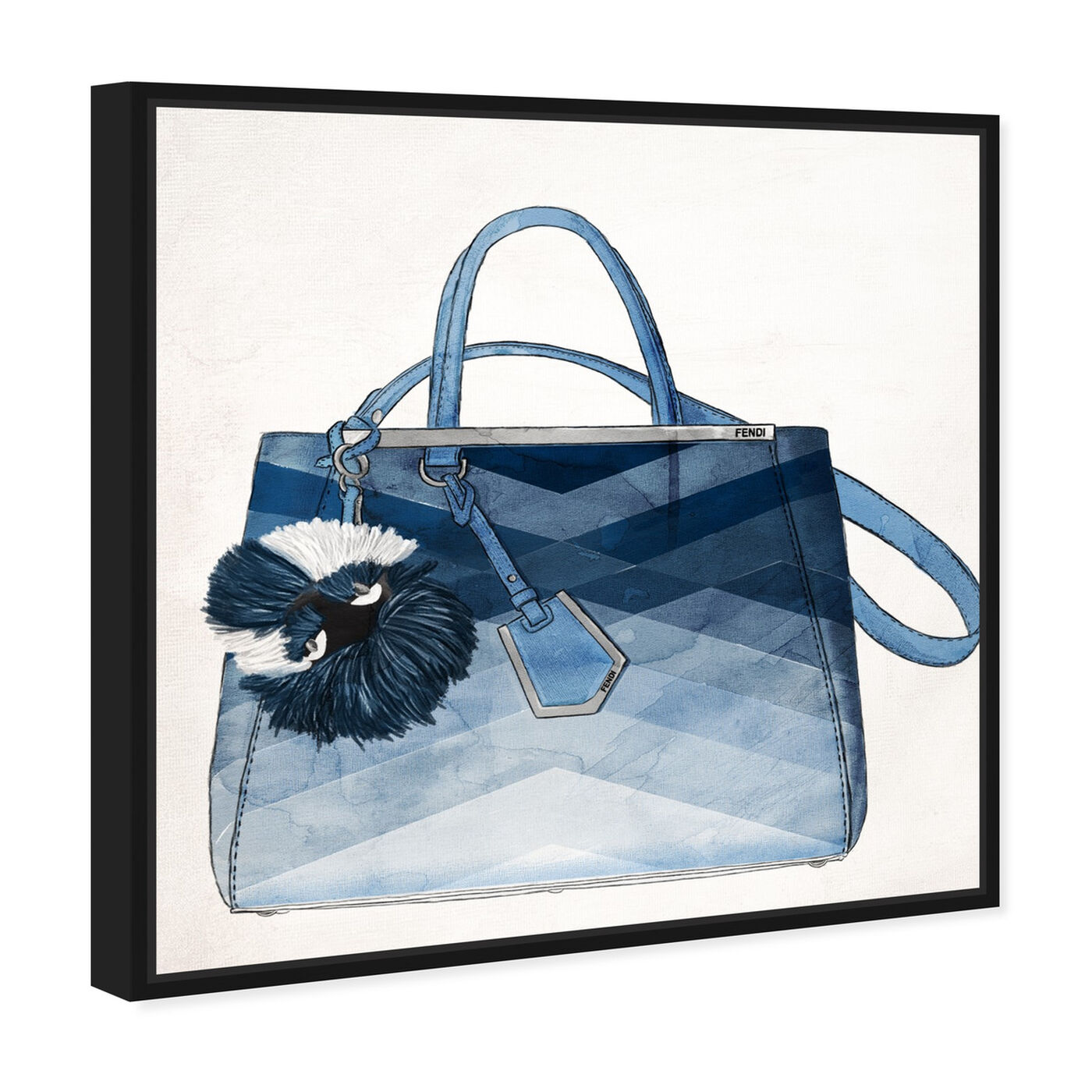 Angled view of Oh My Gosh It's Blue featuring fashion and glam and handbags art.