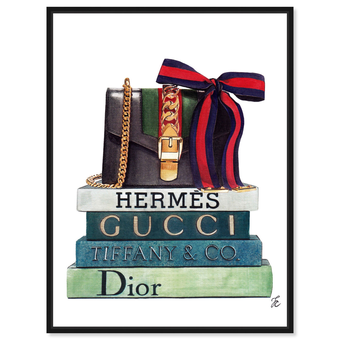 Front view of Doll Memories - Luminous Statement featuring fashion and glam and handbags art.