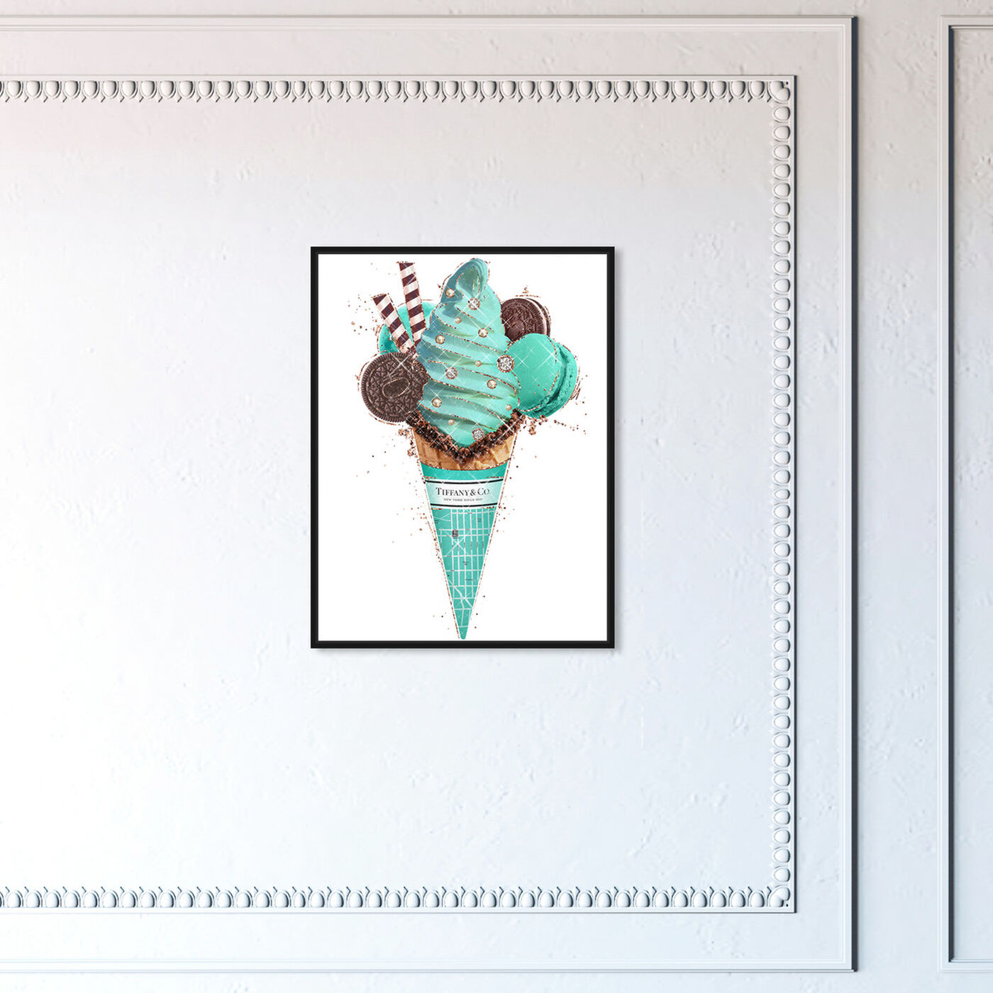 Hanging view of Aqua Mint Gelato featuring fashion and glam and fashion lifestyle art.