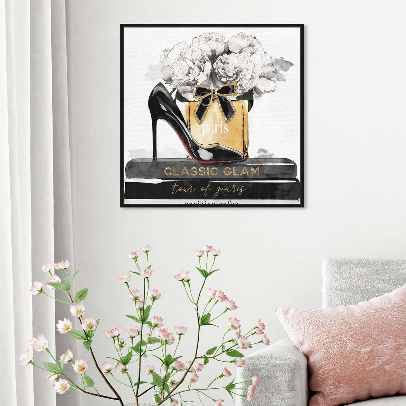 Hanging view of Glamorous Stack featuring fashion and glam and shoes art.