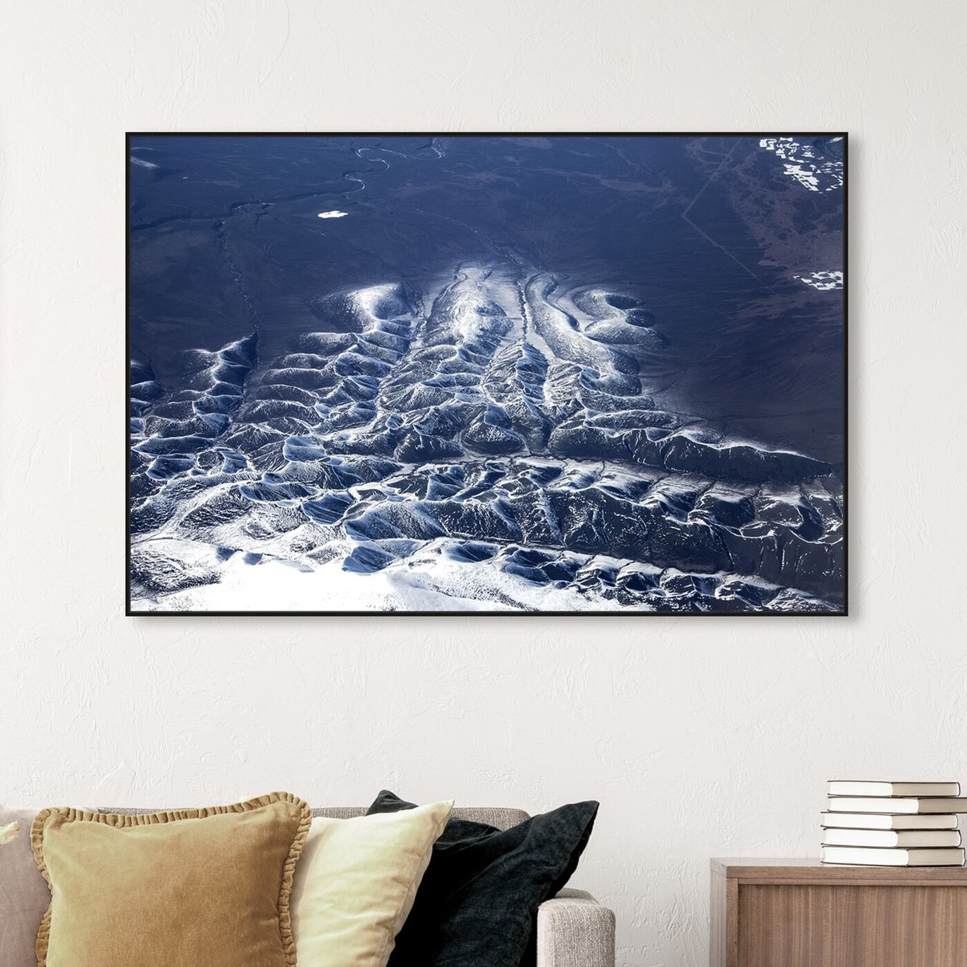 Hanging view of Curro Cardenal - Aero View VI featuring nature and landscape and mountains art.