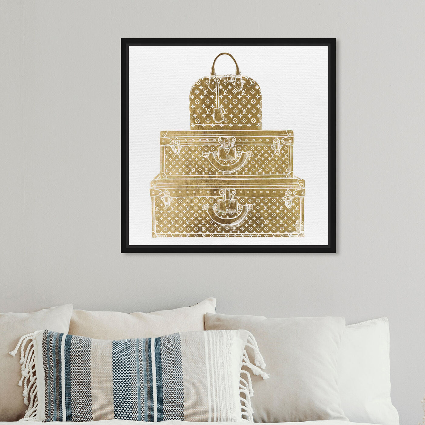 Hanging view of Royal Bag and Luggage Gold featuring fashion and glam and travel essentials art.