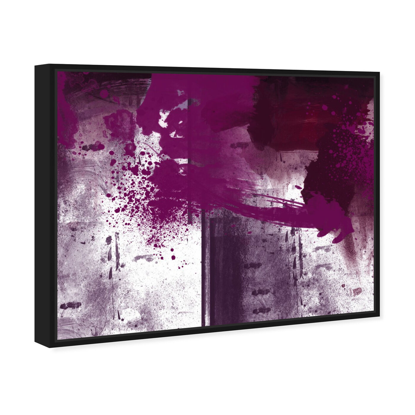 Angled view of Violet Substance featuring abstract and paint art.