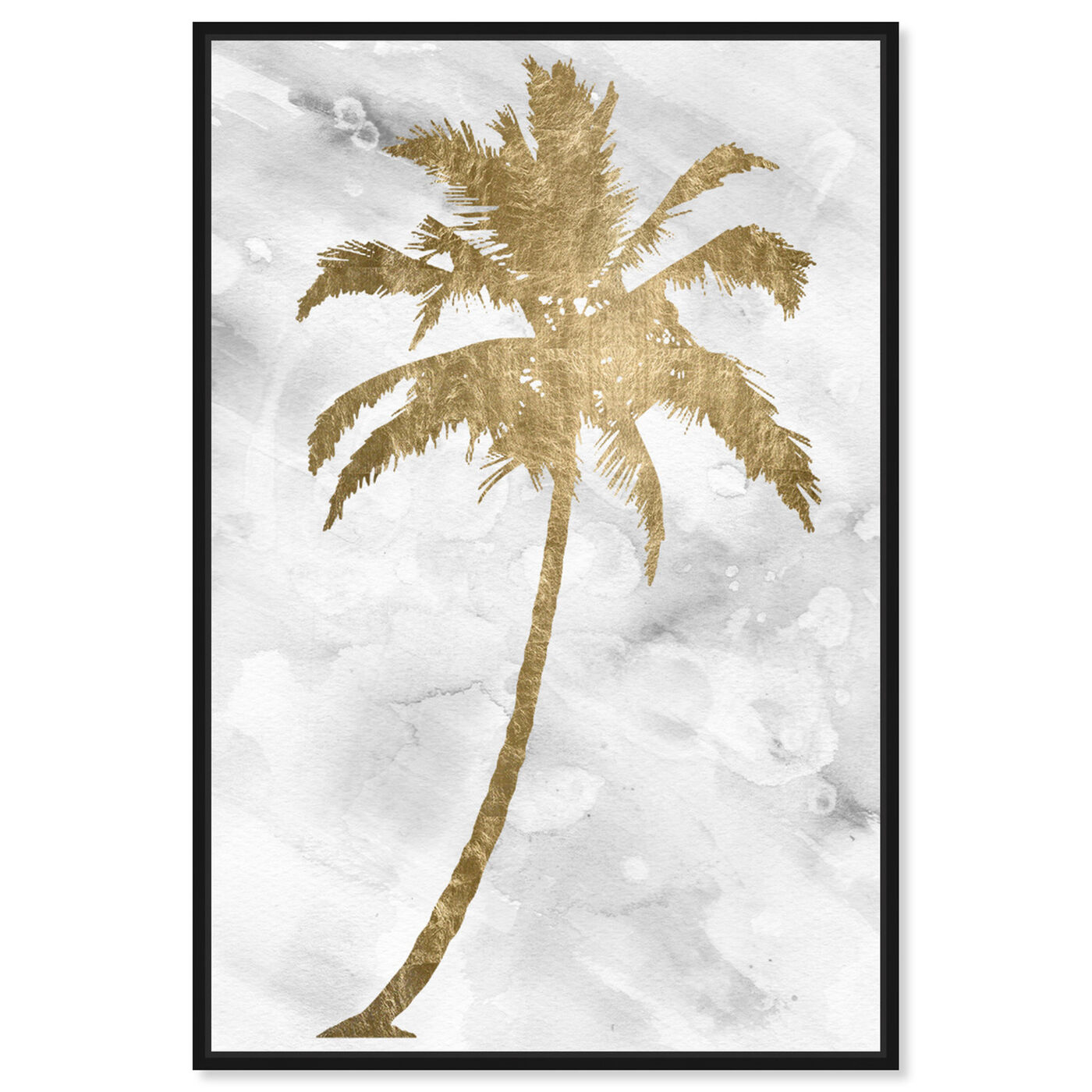 Front view of Palm Tree Gold featuring floral and botanical and trees art.