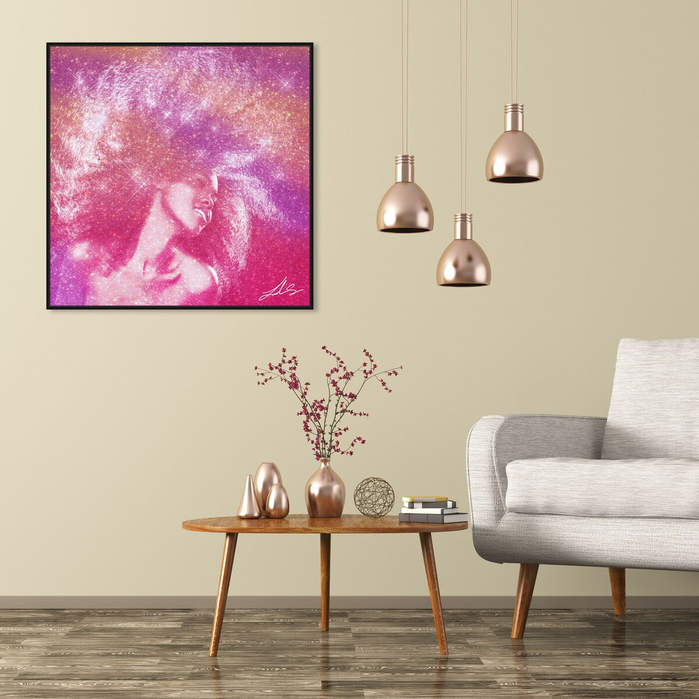 Hanging view of Wild Fro Feelin featuring fashion and glam and hairstyles art.