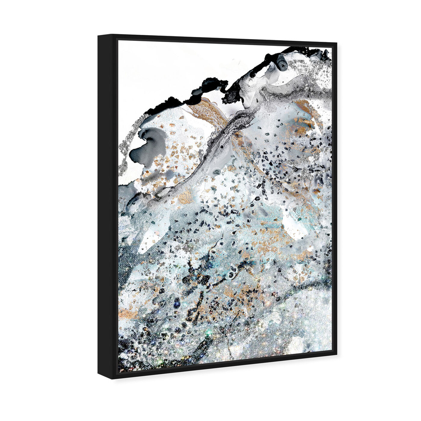Angled view of Live Forever featuring abstract and watercolor art.